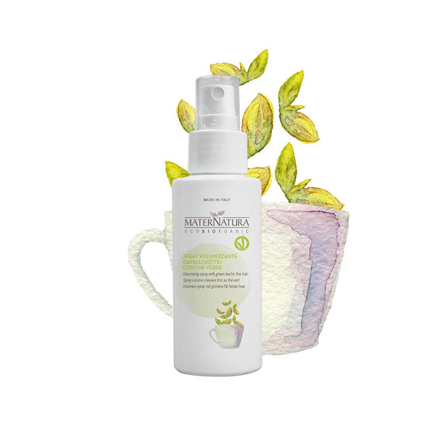 Volumising spray with green tea for fine hair